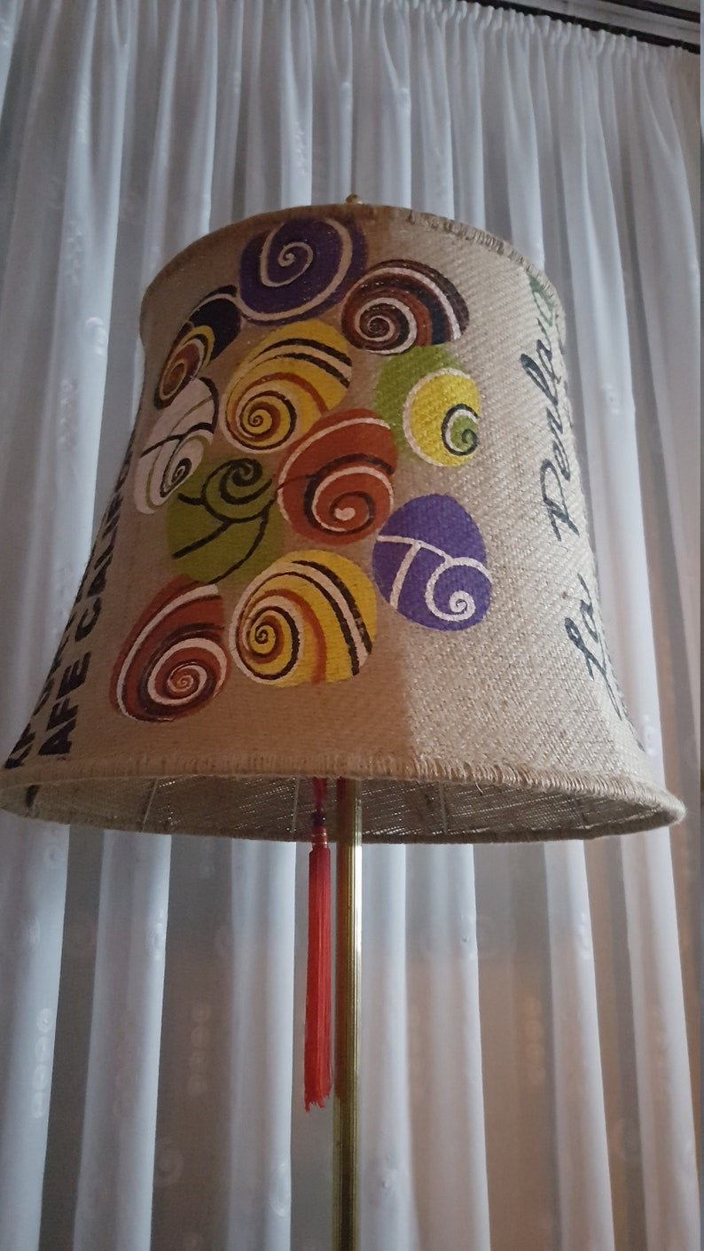 XXL lampshade made of coffee bag California image 0