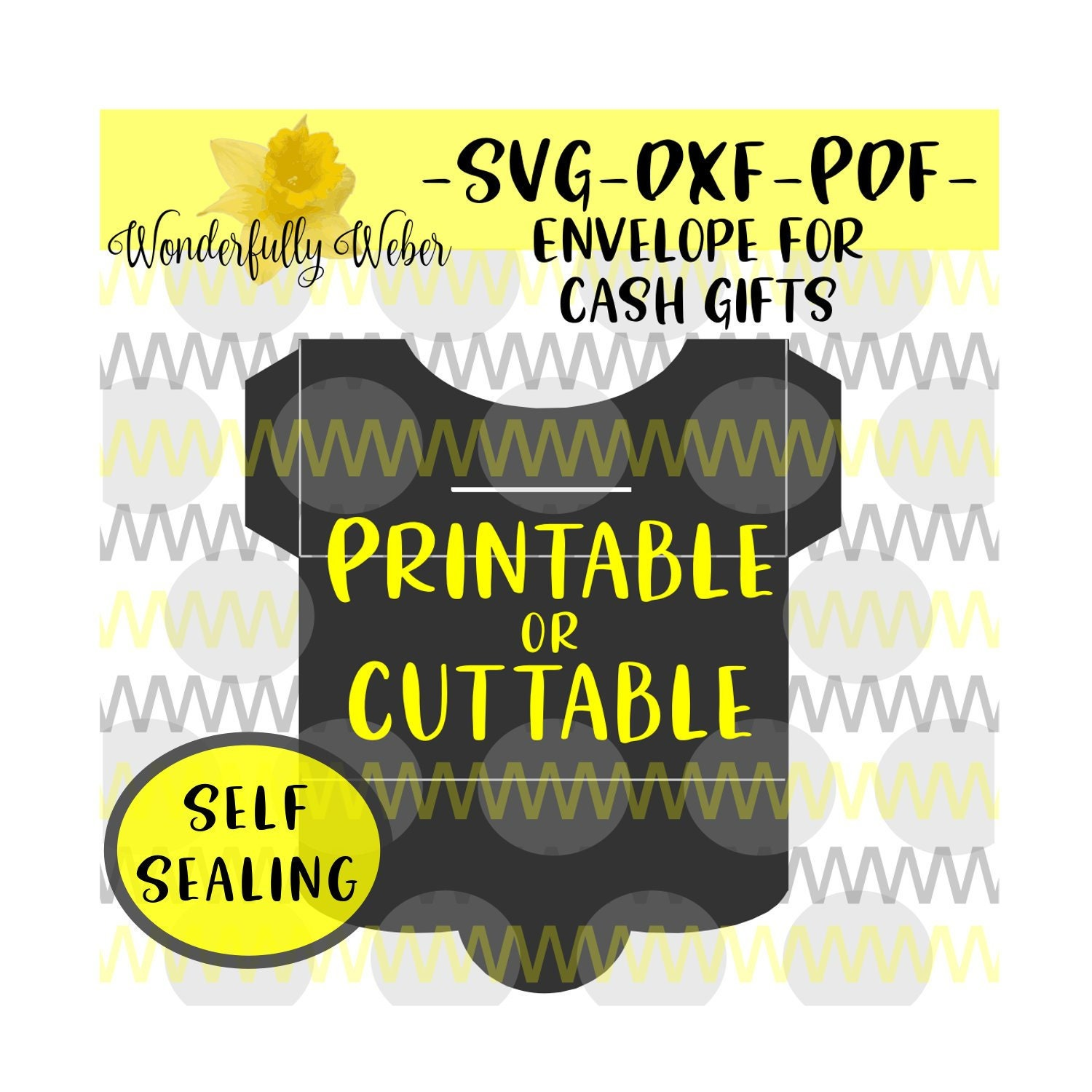 Download Money Envelope Print At Home Or Svg Cut File For Cricut And Etsy