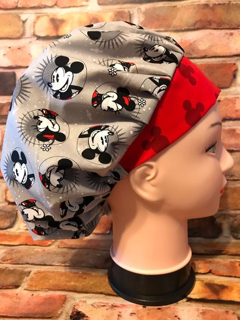 Surgical Cap Mickey Mouse Scrub Cap Headwear Chemo Cap
