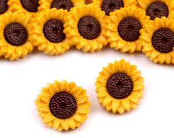 "4 pcs Sunflower Novelty Buttons Sewing Crafting Quilting 0.75/"" Card Making"