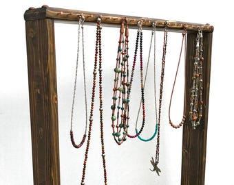 Necklace Display, Necklace Rack, Necklace Stand, Jewelry Stand, Wood Jewelry Display, Necklace Hanger, Jewelry Display, Free-Standing