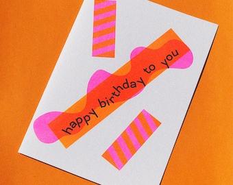 Confetti Birthday Risograph Card