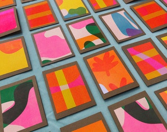 Abstract A6 Mini Card Pack