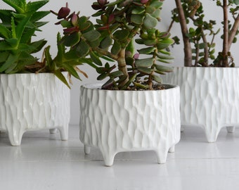White flower pot etsy ceramic flower pot on legs flower pot white flower pot carved flower pot ceramic flower pot table decoration ceramic tree fruit bowl mightylinksfo