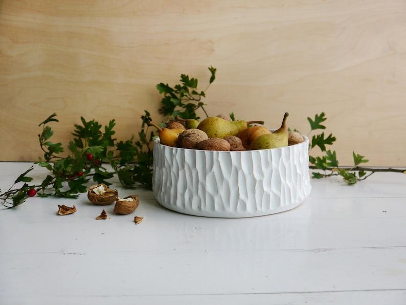 Ceramic fruit bowl big bowl snack bowl table decoration | Etsy