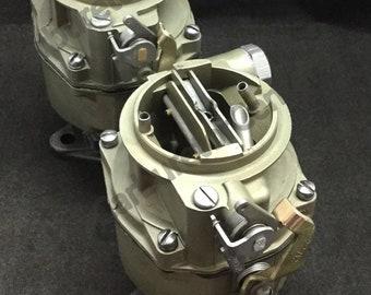 Dual Rochester Chevrolet Carburetor Setup *Remanufactured
