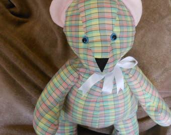 fabric teddy