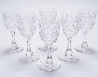 3eb497911eb Set of 6 Edwardian Glasses