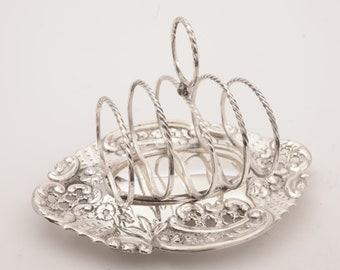 Edwardian Silver Plated Toast Rack, Circa 1905