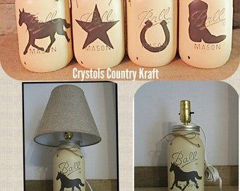 Western lamp with burlap shade 5d780f5e118f
