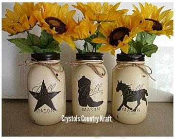 Western vases western centerpiece Horse vase cowboy hat | Etsy