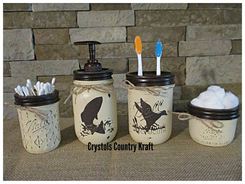 Duck Hunting Bass Fish Bathroom Decor Bass Soap Pumpduck Etsy
