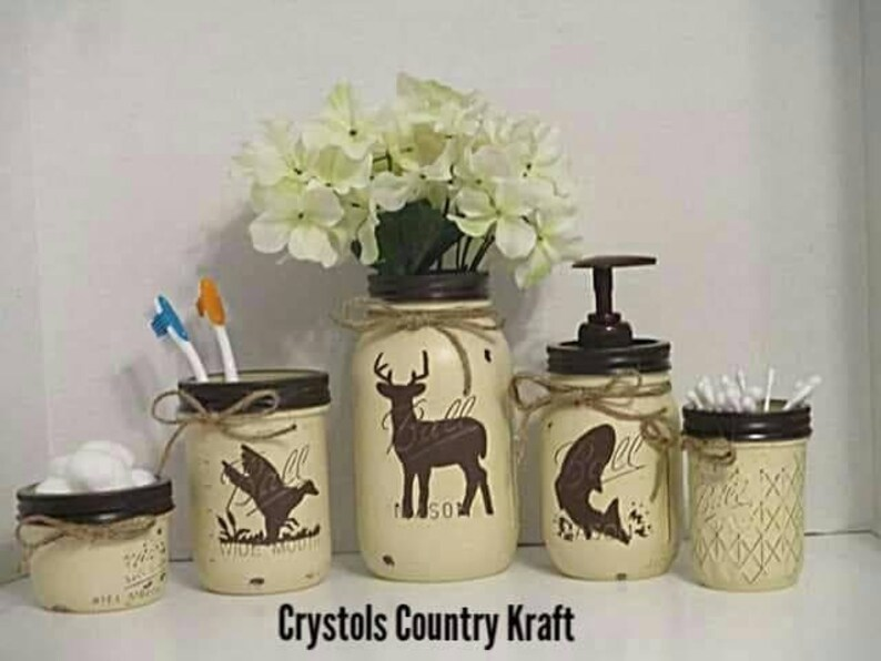 Deer Duck Hunting Bass Fish Bathroom Decor Bass Soap Etsy