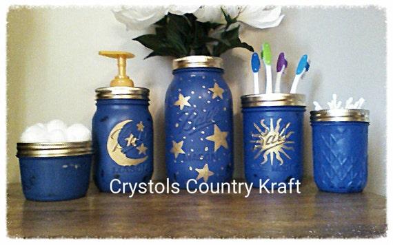 Celestial Bathroom Set Moon Stars Sun Bathroom Decor Etsy