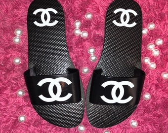 a851e65bf Chanel Inspired Slides. BabyDollEmbroideryNC