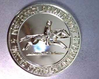 """Mr Zip and Pony Express Token 1 1//2/""""  Made of Thick Brass Post Office"""