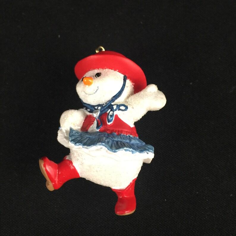 Vintage Hallmark Keepsake 2000 Christmas Ornament Dancin/' In Christmas Cowgirl Snowgirl Western