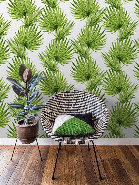 feuille tropique d coration murale tissu tropical feuilles etsy. Black Bedroom Furniture Sets. Home Design Ideas