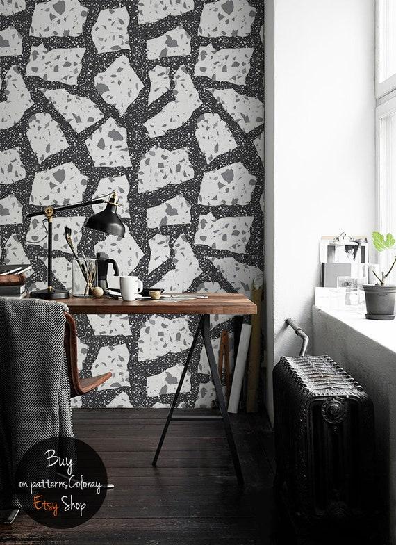 Terrazzo Flooring Wallpaper Scandinavian Mosaic Wall Mural Peel And Stick Abstract Wallpaper Self Adhesive Concrete Wall Decor 167