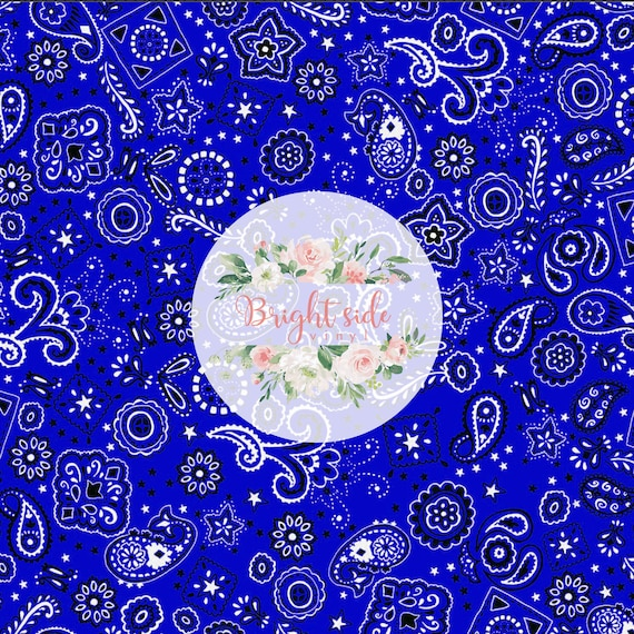 or Orcale 651 Permanent Outdoor Vinyl Easy Mask Transfer Tape Included Blue Bandana Paisley Print Heat Transfer Vinyl