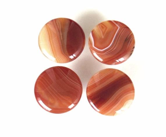 Home Decor Round Stone Pulls Orange Onyx Agate Knobs Mushroom Style