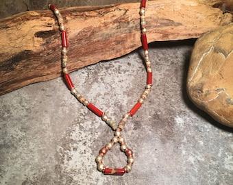 Southwest Necklace, Gemstone Necklace, Handmade Necklace, Jasper Necklace, Tribal Necklace, African Necklace, Boho Necklace, Native American
