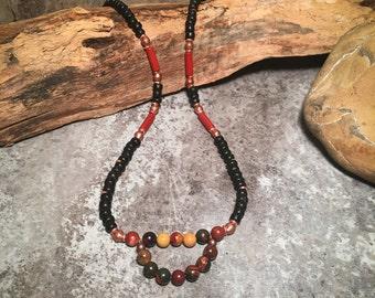 Gemstone Necklace, Southwest Necklace, Boho Necklace, Handmade Necklace, Tribal Necklace, Beaded Necklace, African Necklace, Native American