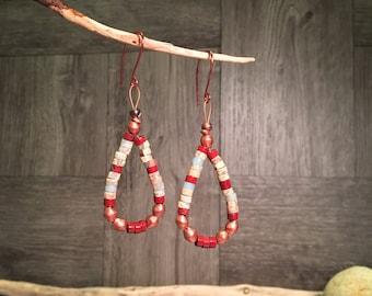 Gemstone Earrings, Southwest Earrings, Handmade Earrings, Boho Earrings, Artisan Earrings, Tribal Earrings, Jacla, Jocla, Native American