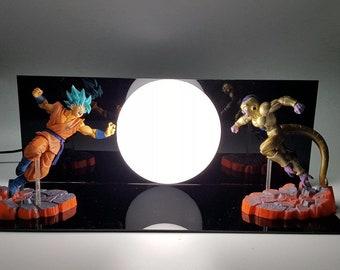 Dragon Ball Z Goku Vs Fireza White Lamp