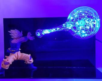 Goku Kamehameha Blue Lamp