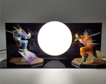 Dragon Ball Z Vegeta Vs Goku White Lamp