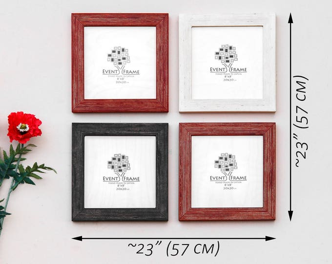 Picture frame set of 4, photo frame set, gallery wall set, rustic frame set, photo collage frame, picture frame 8x8, wall gallery frames