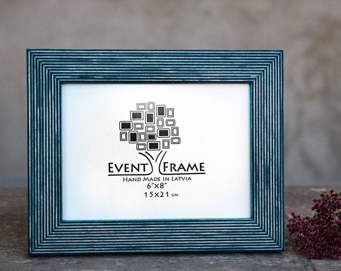 Standard Teal Wooden Picture Frame