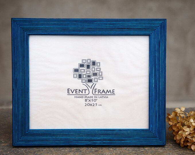 Standard Blue Wooden Picture Frame