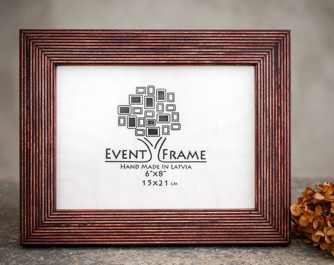 Standard Brown Wooden Picture Frame