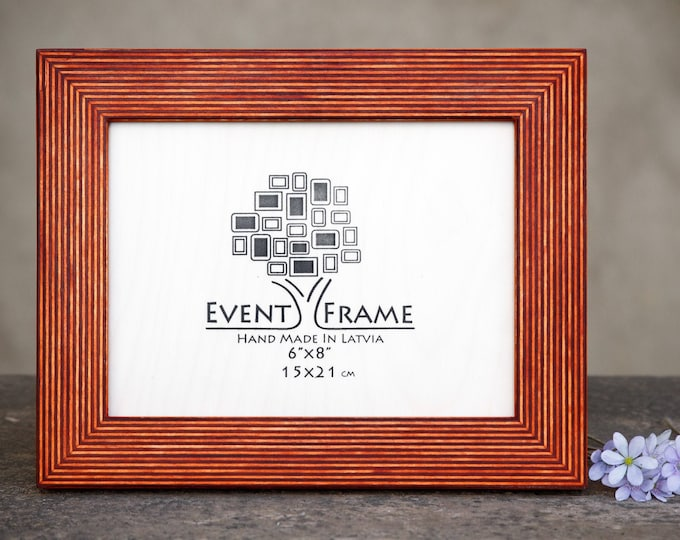Standard Orange Wooden Picture Frame