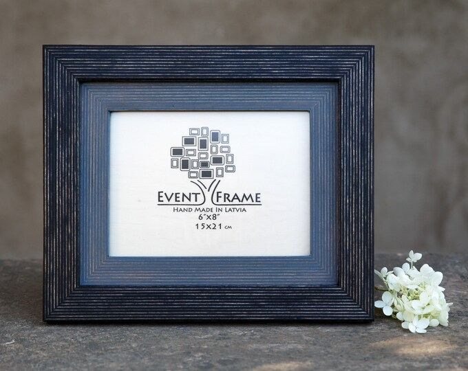 Double Black-Gray Wooden Picture Frame