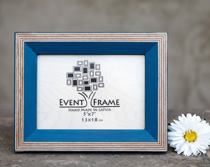 Newest Design Blue Wooden Picture Frame