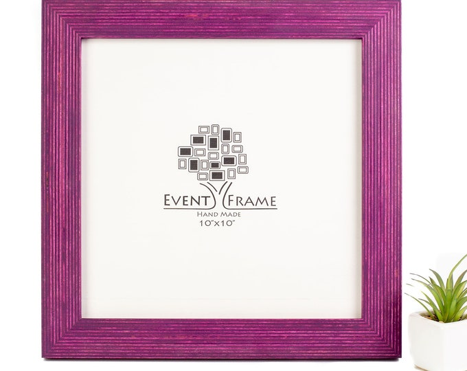 Standard Purple Wooden Picture Frame