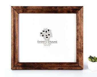 Handmade Picture Frame, Brown Walnut Color, Custom Birch Hardwood Frame, Premium Quality, Custom Sizes 8x10, A4, 8x12, 8.5x11, 11x14, 20x30