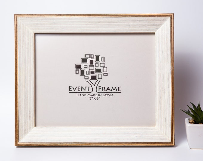Classic Style White Picture Frame, Handmade from Birch Plywood, Any Custom Sizes