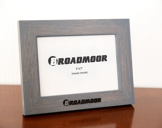 Engraved Broadmoor Logo Picture frame for photos 5x7 inches.