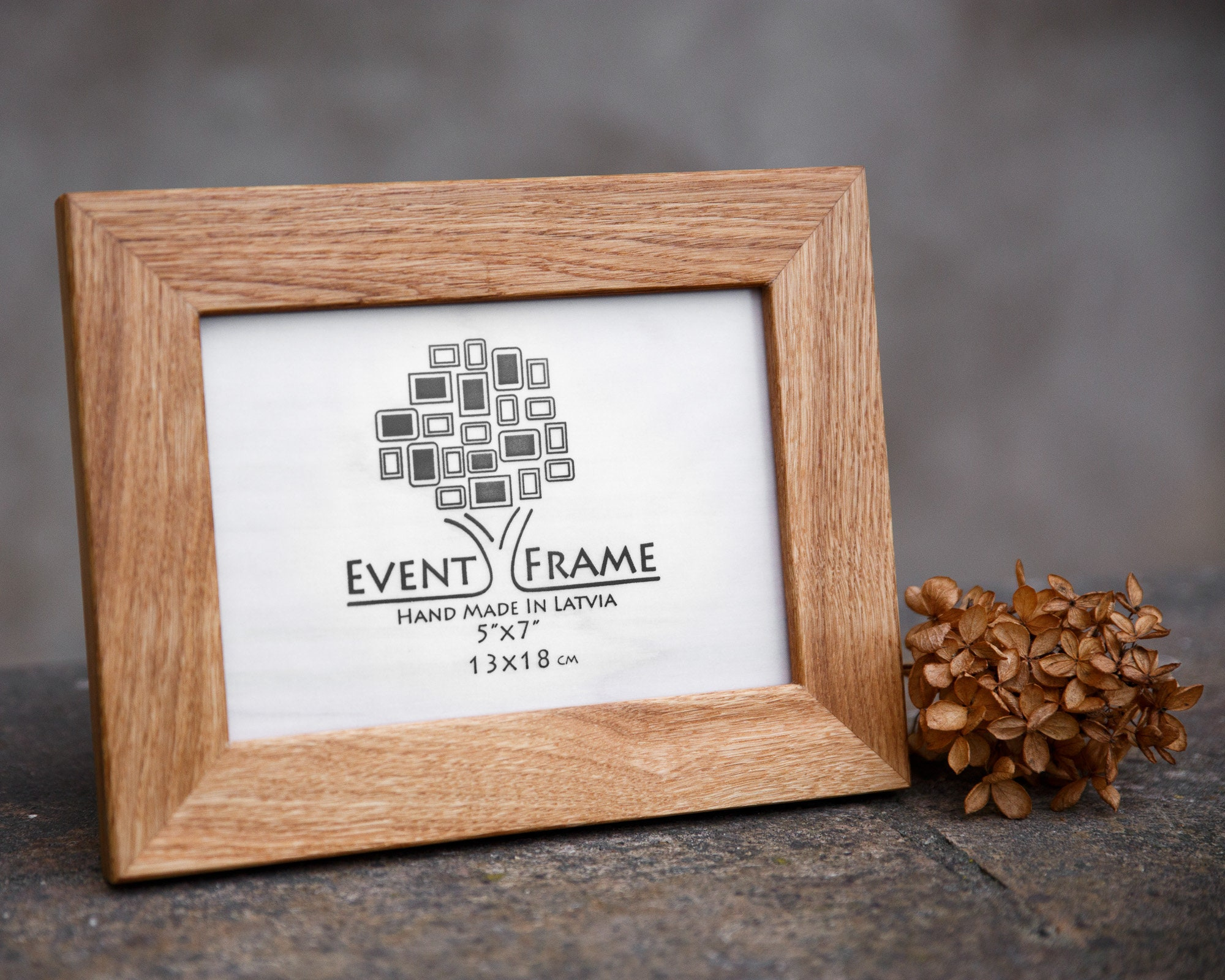 Eiche Bilderrahmen Holz Bilderrahmen Holzrahmen Gestell aus | Etsy