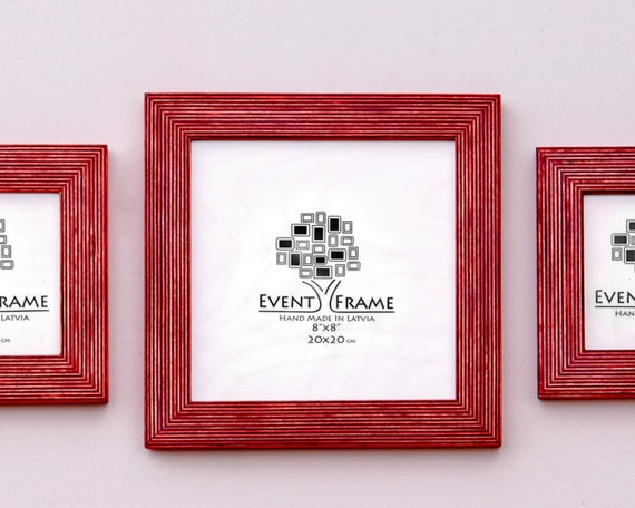 Square Picture Frame Set of 5 Frames, Sizes 8x8
