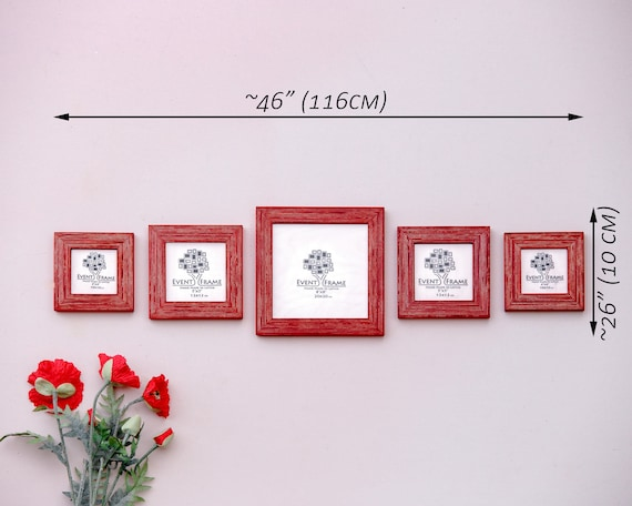 Square Picture Frame Set Of 5 Frames Sizes 8x8 Etsy