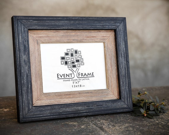 Black Picture Frame Wood Photo Frame Rustic Frames Choose Sizes