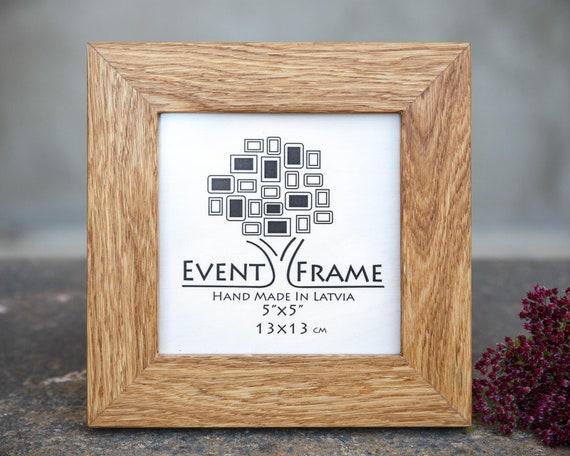 Fait à la main en bois cadre photo verre rustique Taille A4 en chêne