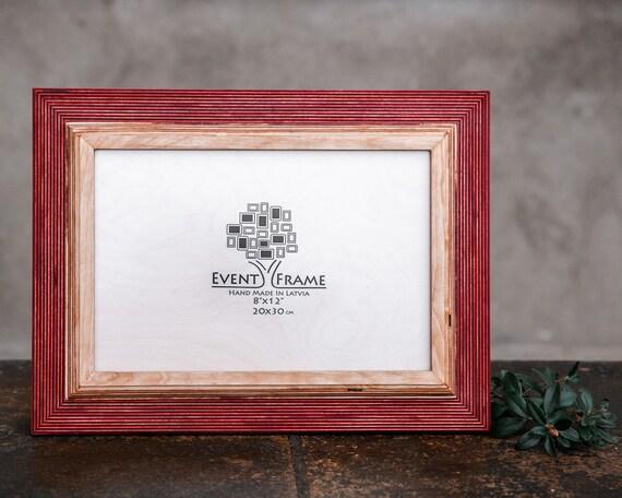 8x12 Picture frame 20x30 cm Unique Wooden Rustic Design | Etsy