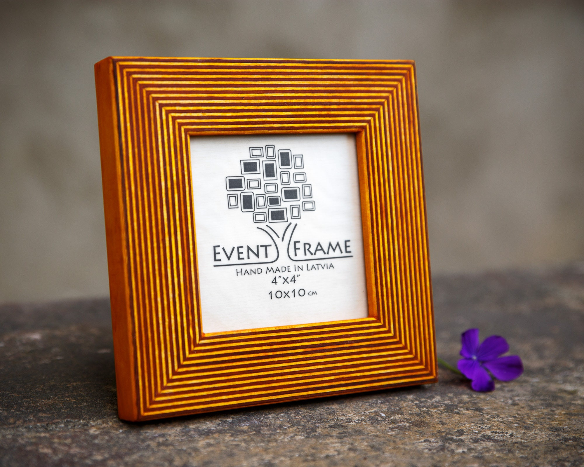 Yellow Picture Frame Wooden Photo Frame Rustic wood Frame   Etsy