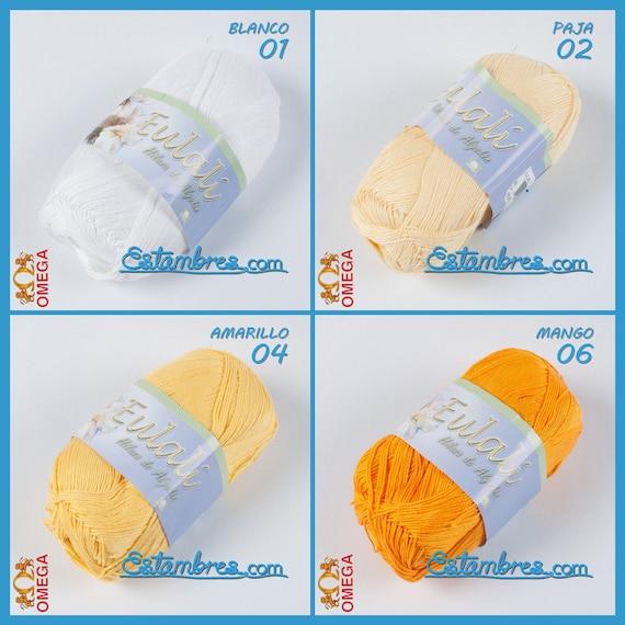 Eulali Omega [100grs] | Bright Omega 100% Mercerized Egyptian Cotton Thread